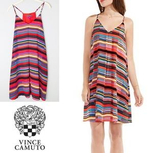 Vince Camuto Multicolored Cubana Beats Tank Dress
